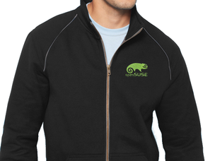 Black jacket with light green openSUSE logo